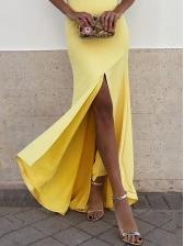 Seductive Off Shoulder Split Fishtail Ladies Dress