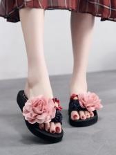Summer Stereo Flower Women Beach Slide Slippers