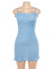 Hot Sale Stringy Selvedge Straps Pencil Dress