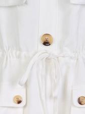 Stylish Pockets Drawstring Spaghetti Strap Romper