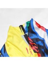 Trendy Color Block Zipper Long Sleeve Bodysuit