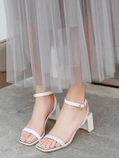 Euro Style Square Toe Women Sandals
