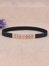 Versatile Metal Splicing Women Skinny Belt