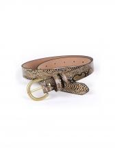 Stylish Serpentine Metal Buckle Women Belt
