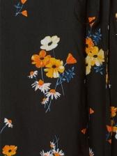 Vintage Style V Collar Slim Floral Dress