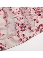 Boutique Self Tie Floral Asymmetrical Hem Maxi Dress