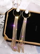 Easy Matching Pearl Round Tassel Earrings