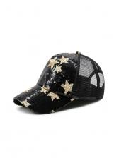 Fashion Star Sequin Mesh Baseball Cap