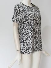 Leopard Printed Women Short Sleeve T-Shirt