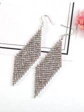 Chic Geometric Shape Rhinestone Earrings For Women