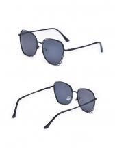 Fashion Pierced Big Frame Sunglasses For Women