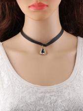 Simple Design Triangle Pendant Necklace