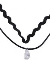 Simple Design Wave Shape Pendant Necklace