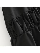 Stylish Solid Color Irregular Drawstring Skirt