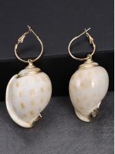 Tridimensional Conch Metal Splicing Asymmetric Earrings