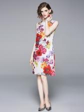 Summer Trendy Floral Sleeveless Dress