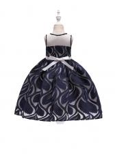 Lovely Sleeveless Gauze Embroidery Princess Girls Dress