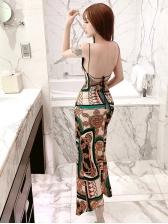 Sexy High Split Backless Vacation Dress