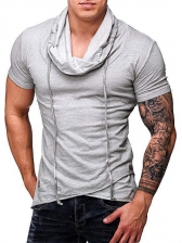 Casual Heap Collar Solid Color T-shirt For Men