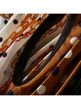 Stand Neck Polka Dots Tie-Wrap Maxi Dress