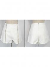 Solid Irregular Top With Diamond Decor Shorts