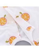 Adorable Lemon Printed Cotton Baby Romper