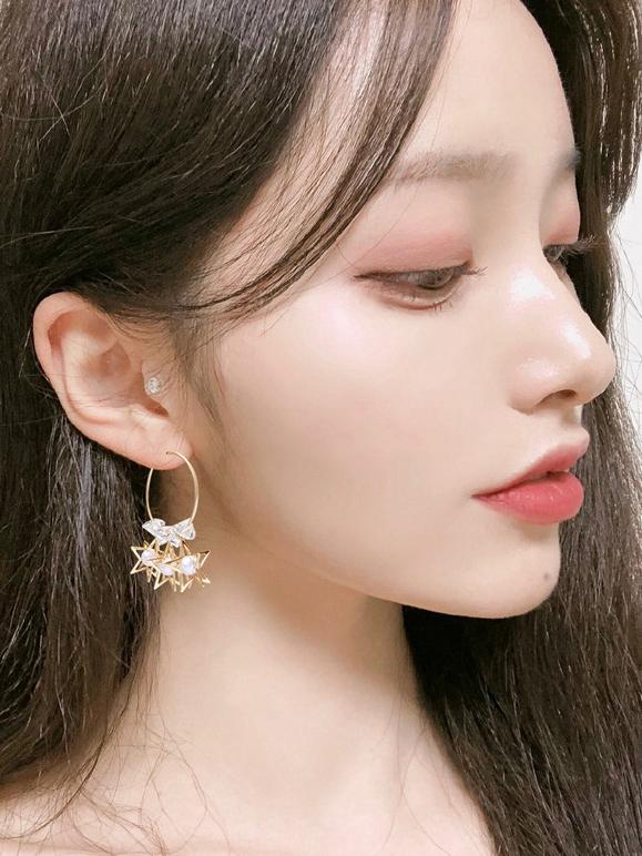 Fashion Star Rhinestone Drop Earrings