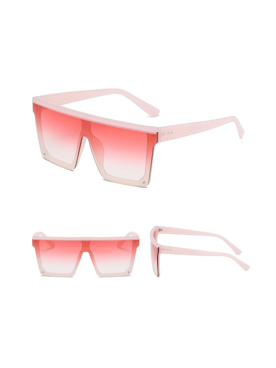 Fashion Square Frame Gradient Color Sunglasses