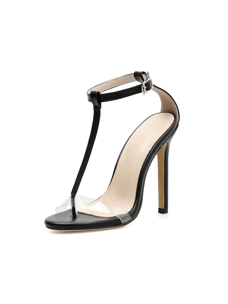 Fashion T-strap Female Heeled Sandals