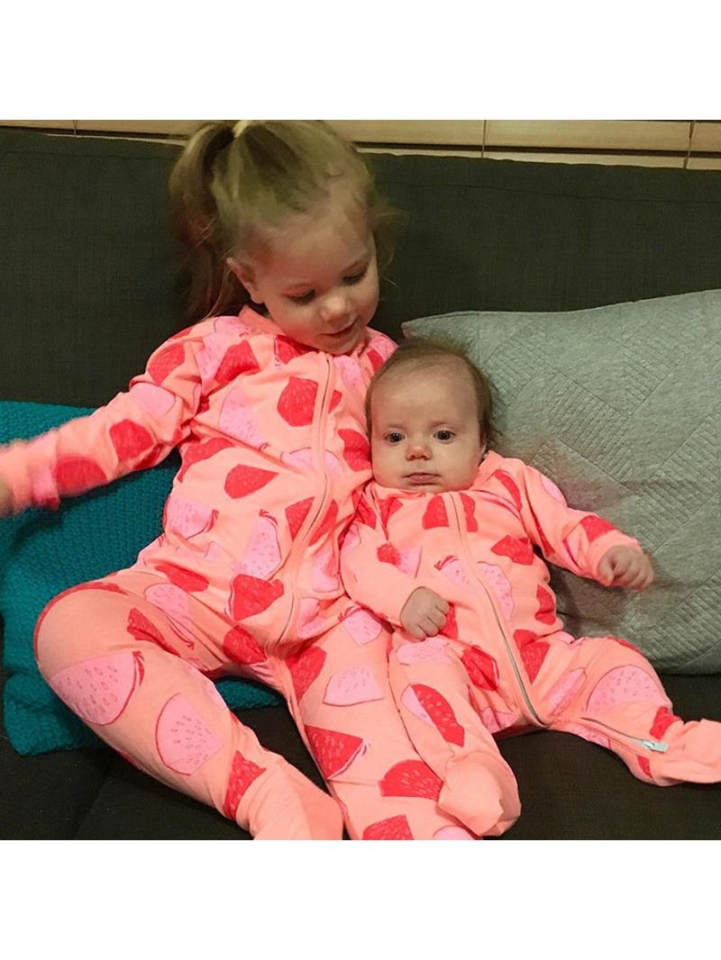 Watermelon Printed Long Sleeve Baby Romper