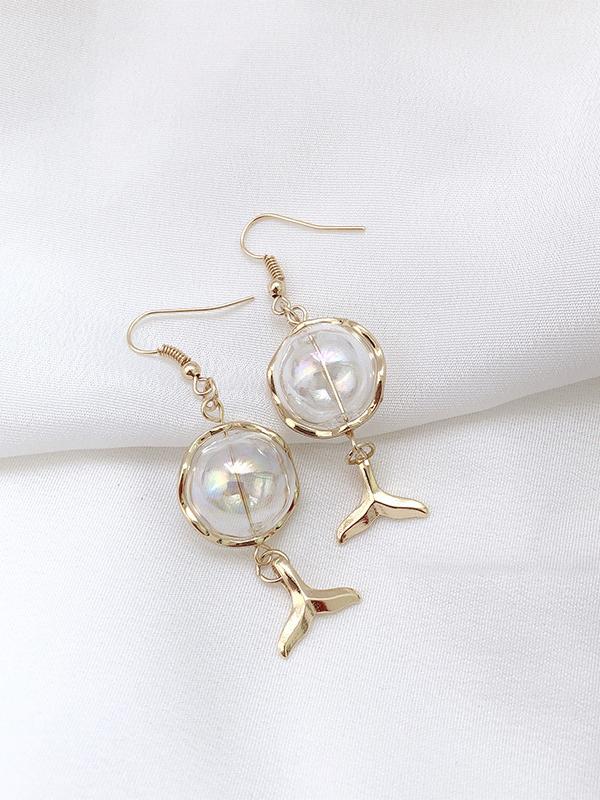 TrendyBallDecor Fishtail Pattern Ladies Earrings