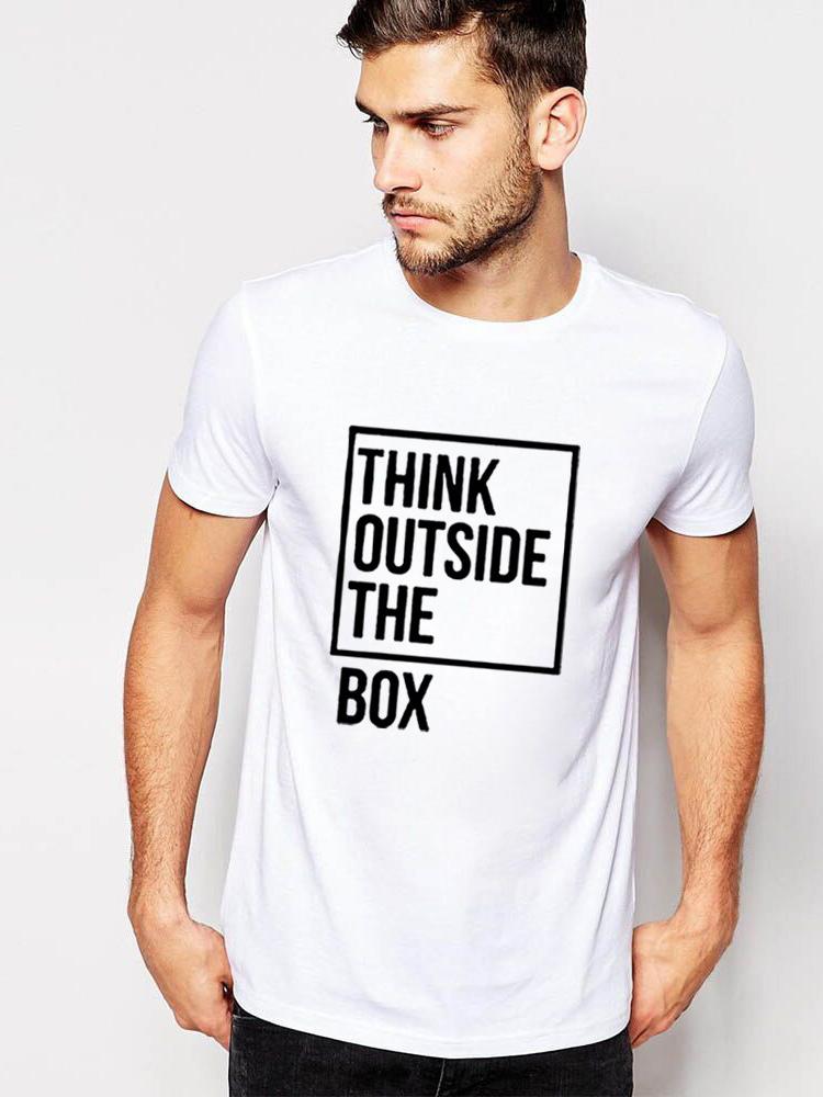 Fashion Cotton Letter Mens Tee Shirt