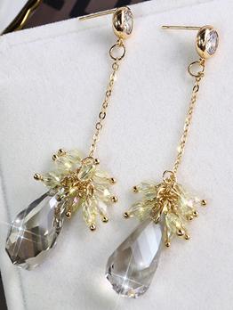 Vintage Tassel Crystal Earring For Women