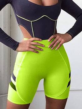 Euro Striped Sport Short Pants For Women