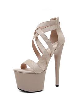 Catwalk Hollow-Out High Platform Stiletto Heels For Ladies