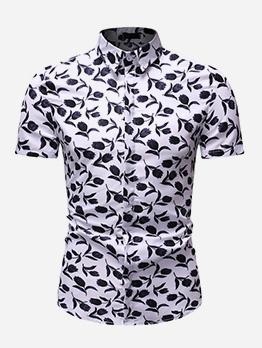 Hat Sale Printed Short Sleeve Shirt For Men