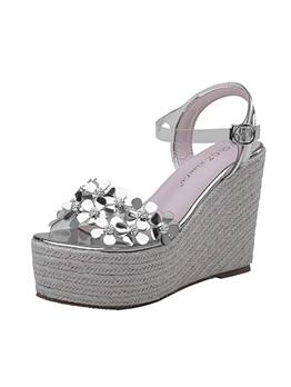 Stereo Flower Patchwork Platform Ladies Sandals