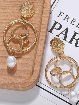 Fashion Creative Round Pearl Earrings