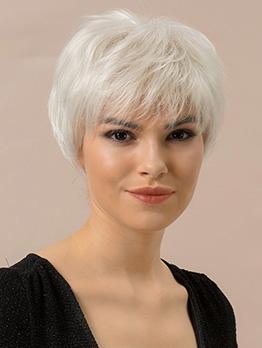 Natural Short Neat Bang Human Wig For Women