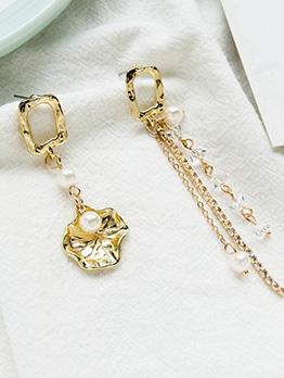 Ins Pearl Patchwork Women Earrings