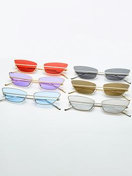 Simple Design Small Frame Unisex Sunglasses
