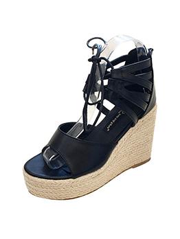 Round Toe Strappy High WedgeLadies Sandals