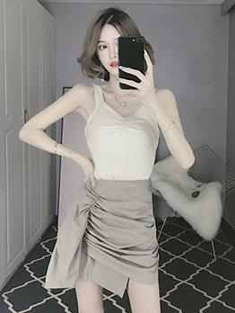 Sexy v Neck Sleeveless Straps Knitting Camisoles