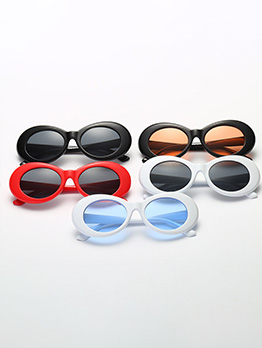 Fashion Big Frame Solid Unisex Sunglasses