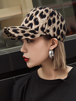Fashion Leopard Sun-Shade Baseball Cap For Women