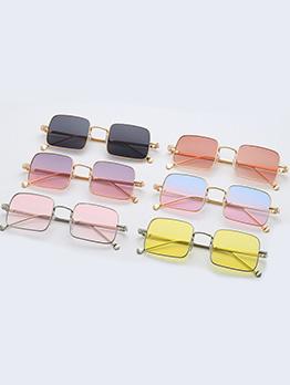 Gradient Color Individual Metal Frame Sunglasses