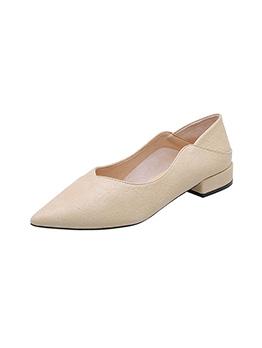 Soft Pointed Toe Versatile Chunky OL Ladies Flats