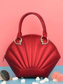 Chic Metal Splicing Shell Shape Handbag For Women
