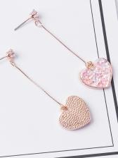 Chic Sequined Heart Eardrop For Women