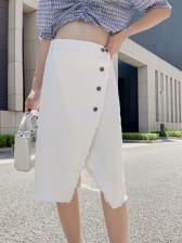Easy Matching High Waist Buckle Skirt For Women